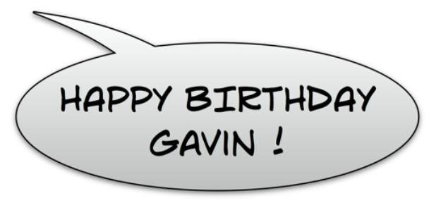 HAPPY Gavin